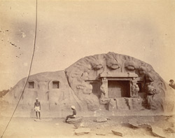Rock-cut Temple known as the Tiger Cave at Saluvankuppam, north of Mamallapuram